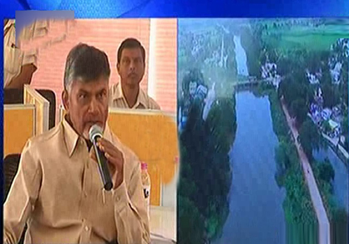 chandrababu watched drone cameras polavaram project