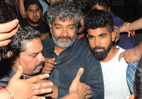 rajamouli watched janata garage movie hyderabad