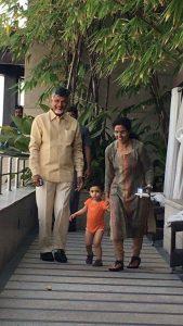 chandra babu playing with grandson