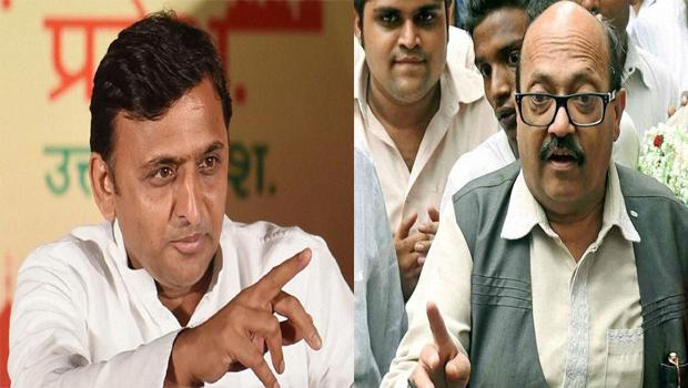 cm akhilesh yadav said broker to amar singh