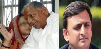 mulayam singh opposite to akhilesh yadav because his wife words