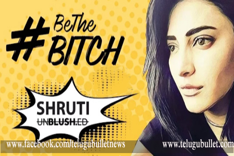 shruti haasan shoot be the bitch video song