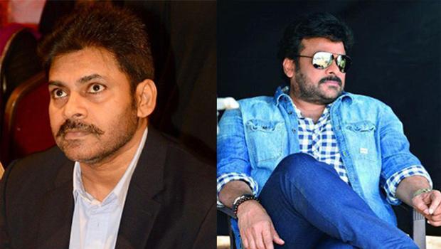 chiranjeevi and pawan kalyan meet katamarayudu movie set