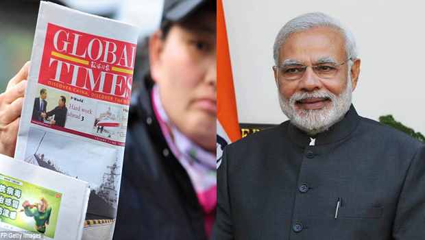 china media global times comment on modi