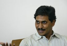 Leader of YSR Congress party Reddy speaks during an interview with Reuters in Hyderabad