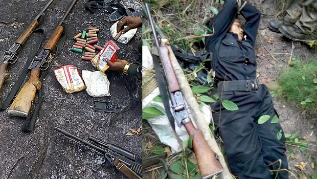 polices encounter 6 Maoists killed and 2 held in Dantewada