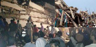 Building collapse in Nanak Ram Guda At Hyderabad