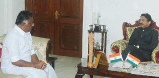 o panneerselvam to meet governor vidyasagar rao at raj bhavan