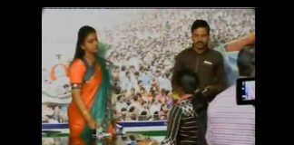 lady journalist shocked to mla roja at ysrcp party office