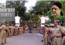 tamil nadu police surrounding the golden bay resorts for sasikala