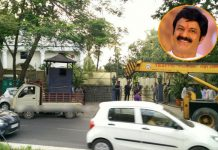 ghmc decided road expand but balakrishna home safe