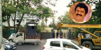 ghmc decided road expand but balakrishna home safe