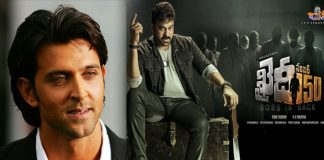 Hrithik Roshan Wants Chiru Khaidi No 150 Into Bollywood directed by murugadoss