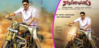 katamarayudu movie mira mira meesam song release
