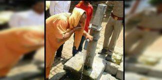 up cm yogi adityanath drinking borewell water