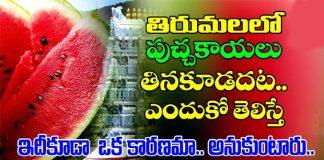 ttd bans watermelon in tirumala because of chirutha