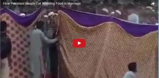 wedding Food Rush In Pakistan