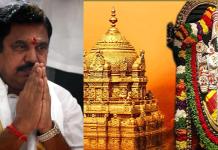 Tamilnadu cm palanisamy visited tirupathi