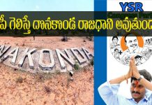 Andhra pradesh capital donakonda if ysrcp win in 2019 elections