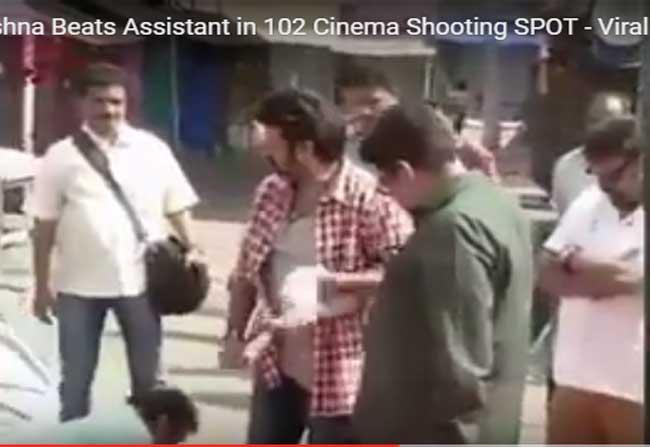 Balakrishna Beats His Assistant