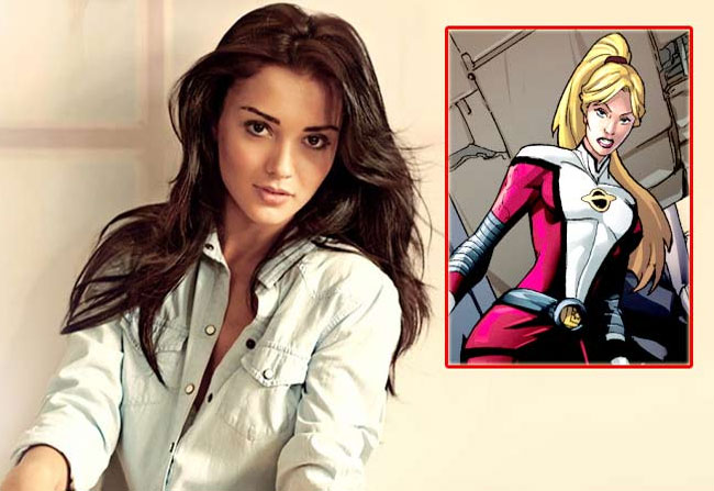 Actress Amy Jackson in Tv Series of American Super Girl
