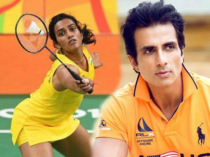 PV Sindhu and Sonu Sood played Badminton