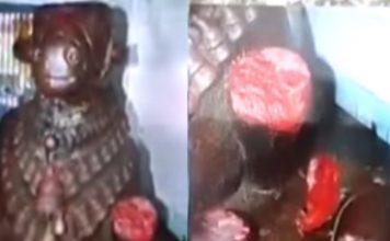 Blood Coming from Idol Nandi Eluru