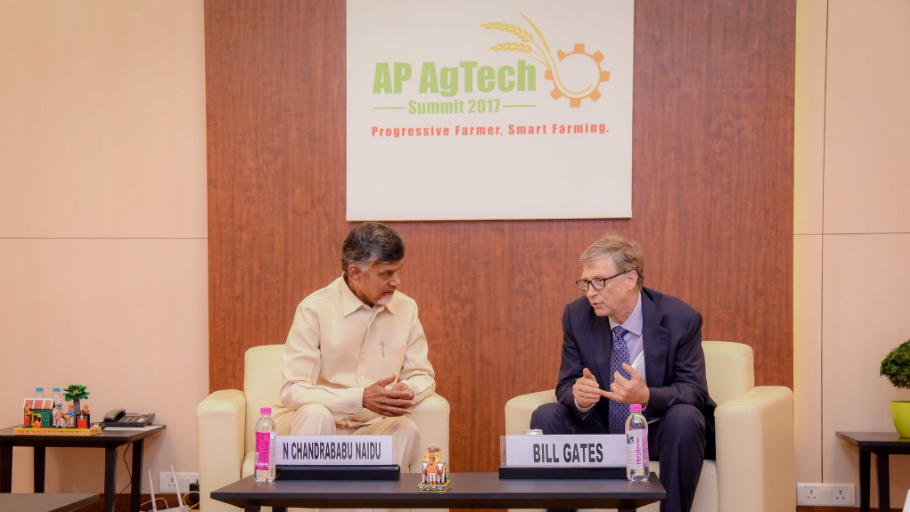 Chandrababu Naidu meets Bill Gates, Vishakhapatnam, Agritech, Conference, Chandrababu, CM, Bill Gates