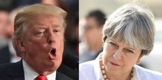 trump and Theresa twitter fight