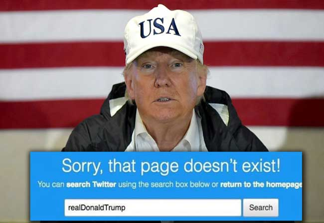 trump twitter account blocked for 11 minutes