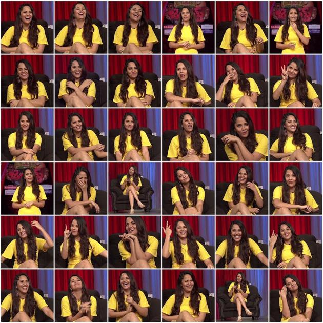 36 Expressions of Anchor Anasuya