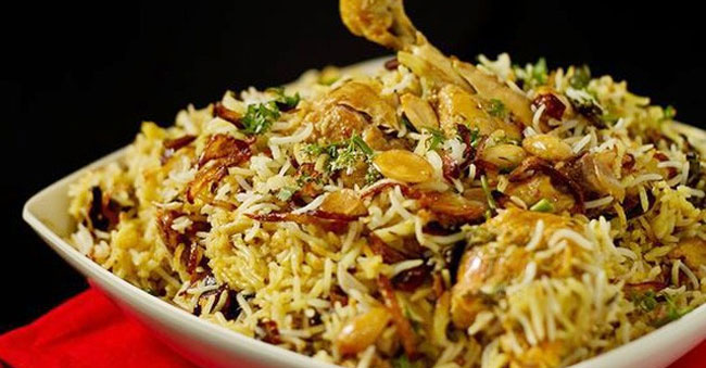 Chicken Biryani is Most Ordered Dish of 2017