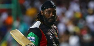 Chris Gayle Sashes Record 146 Runs