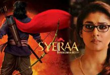 Nayanthara walked out of Sye Raa Movie
