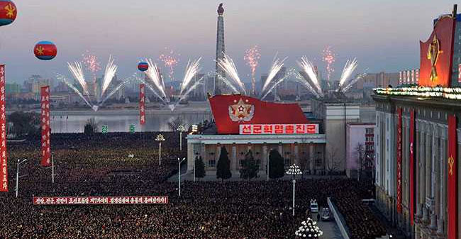 People In North Korea Celebrates After The Successful Missile Test