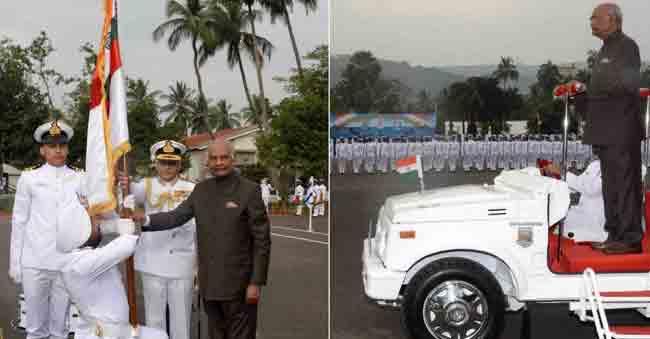 Ram Nath Kovind Awards President's Colours to Navy's Submarine Arm