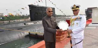 Ram Nath Kovind Awards President's Colours to Navy's Submarine Arm