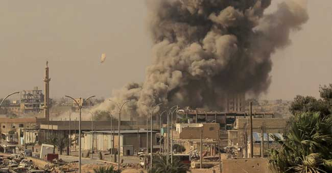 Russia Air Strikes East Syra