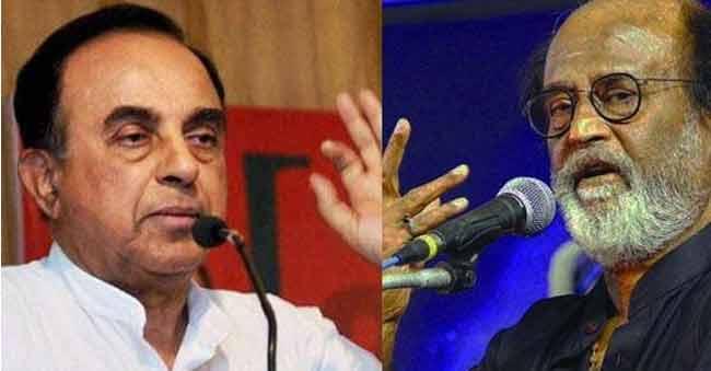 Subramanian Swamy calls Rajini illiterate unfit to enter politics