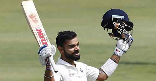 Virat Kohli scores his 20th Test Century