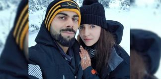 Honeymoon couple Virushka selfie