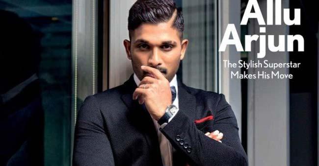 Allu Arjun Steals The Show With His Sleek Look Telugu Bullet