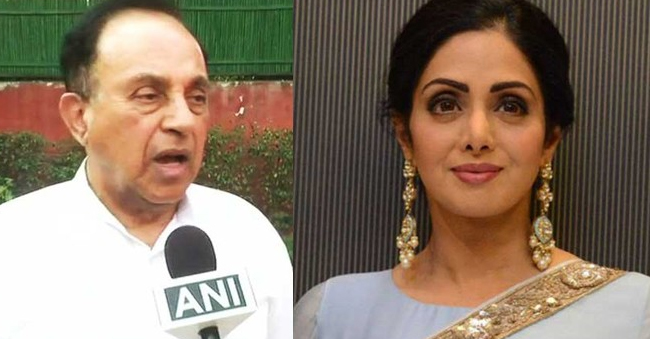 Sridevi Was Murdered Alleges BJP Leader Subramaniam Swamy