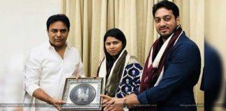 Akhila Priya Invites KTR To Her Marriage