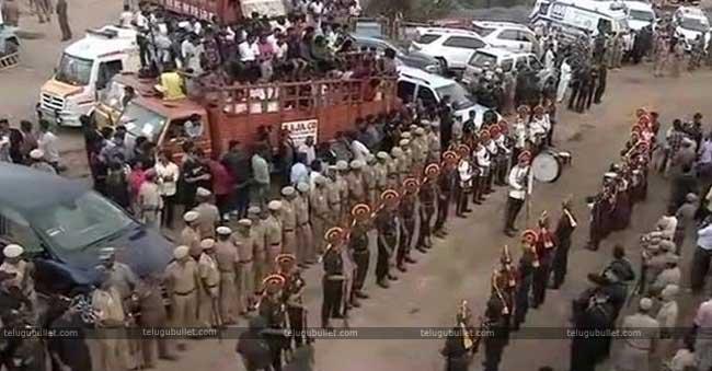 The DMK stalwart, Karunanidhi