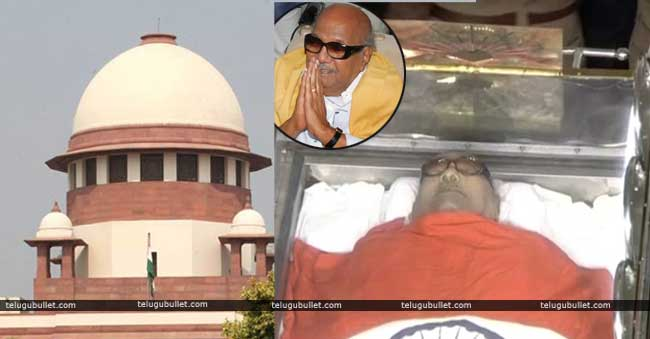 final verdict on Karunanidhi's final rites