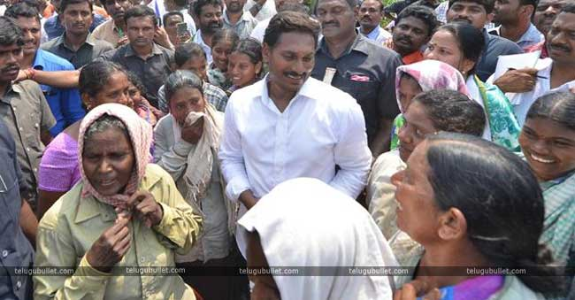 Jagan who is currently participating in padayatra