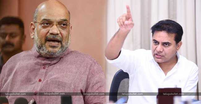 KTR has responded stating that Amit Shah