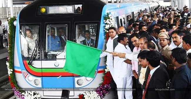 O Metro Train Between LB Nagar To Ameerpet Started