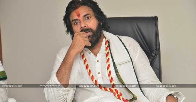 Pawan talking to the party members